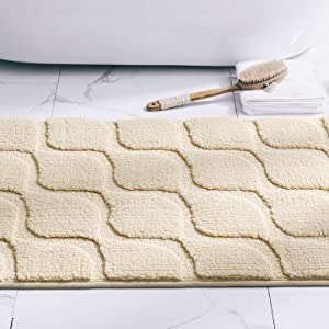 bathroom rugs mats non slip soft microfiber