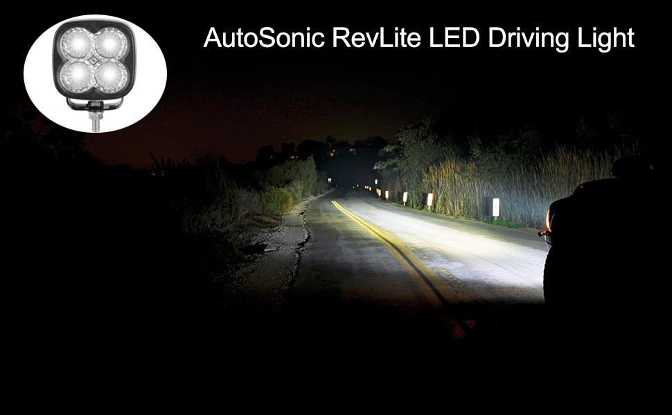 led light driving fog tail headlamp rear light bar