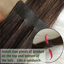 how to apply tape in hair