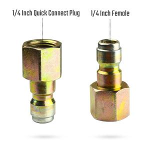 1/4 inch female quick coupler plug
