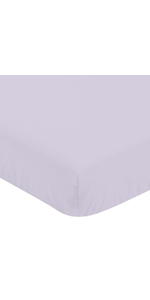 Lavender Purple Baby or Toddler Fitted Crib Sheet for Watercolor Floral Collection