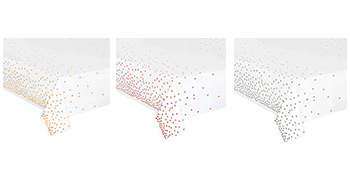 Table Cloths Disposable, Confetti Rectangular Table Covers