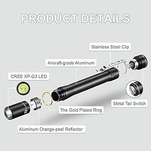 Aluminum Professional Pen Lighting