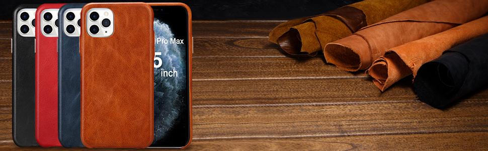 TOOVREN Handmade iPhone 11 Pro Max Leather Case