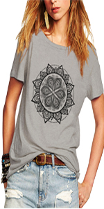 Womens Magical Pattern Short Sleeve T Shirts