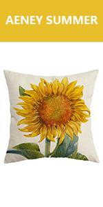 summer pillow cover