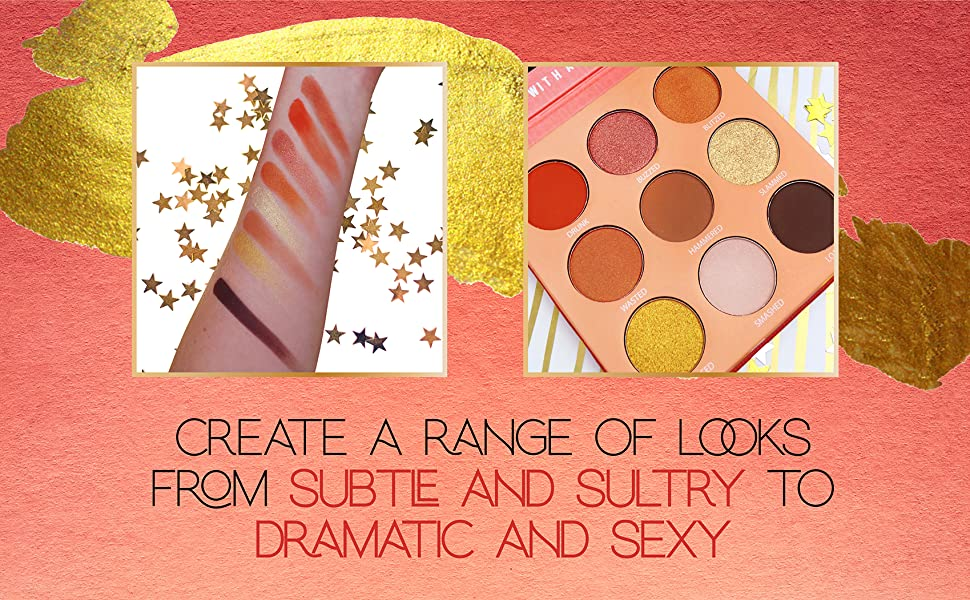 rude cosmetics makeup eyeshadow face palette eyes matte shimmer cocktail party
