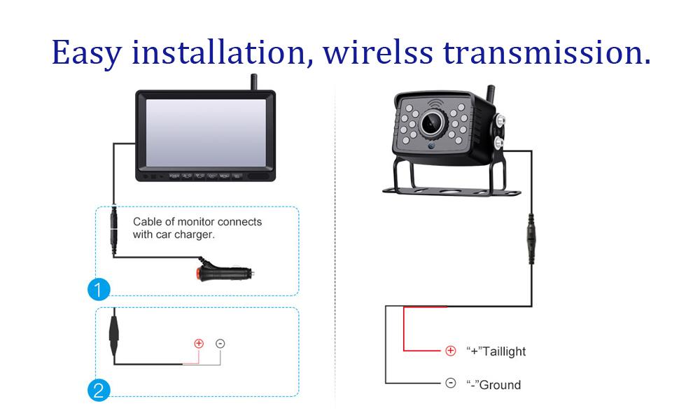 wireless digital car camera system