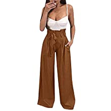 ide Leg Pants for Women Plus Size high waisted Trousers