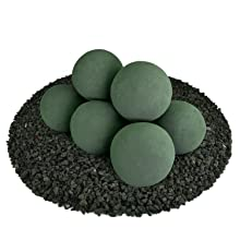 Ceramic Fire balls small multiple 5 inch circular fire proof modern new unique