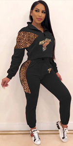 leopard tracksuits for women