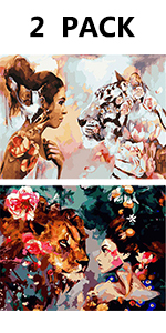 diamond painting women animal