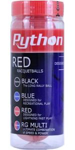 Python Red Racquetballs