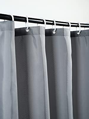 gray shower liner 72 x 78
