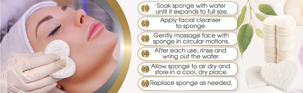 Fushay facial sponges