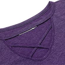 purple t-shirt tops for women