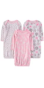 3-Pack Baby Night Gowns