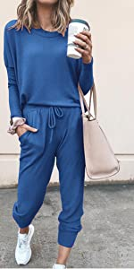sweatsuits set womens jogger pant set