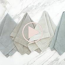 Jolie Paint Fabric Dyeing Napkin Home Table Linens Cotton Fiber DIY