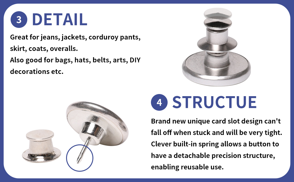 button's detail and structue