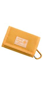 Rough Enough Small Yellow Canvas Card Boys Wallet for Kids Girls Women Men Minimalist Coin Purse