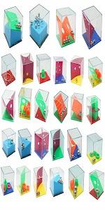 28 PCS Mini Cube Puzzle Box Set