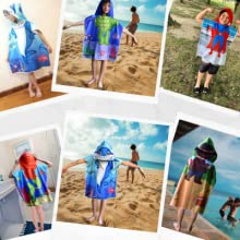 coverup hooded for poncho kids girl soft Hooded towels presents Christmas hoodies towel baby bath