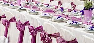 Satin chair bow sash for wedding