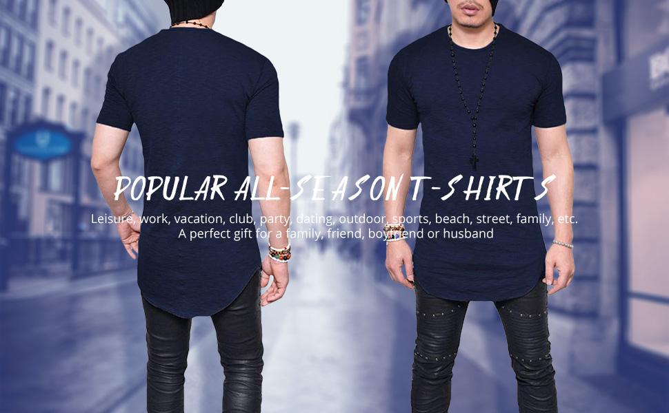 men hipster short sleeve t shirt