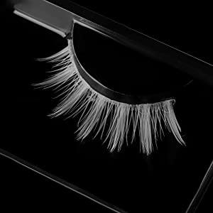 White False Eyelashes Halloween Colorful Eye lashes Extension Tools Cosplay Makeup Natural Looking