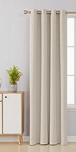 foil print gray blackout curtains