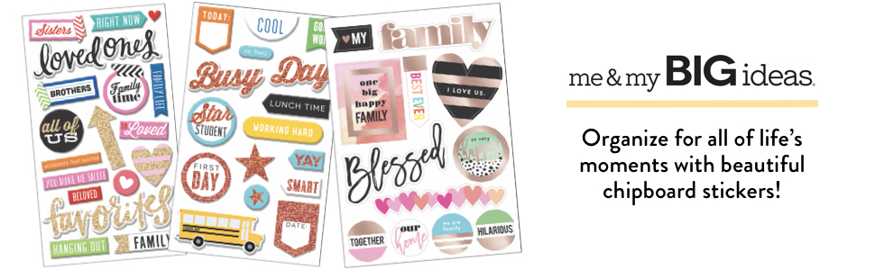 multi color sticker album sheet scrapbook scrapbooking home love great family big bestfriend sticker