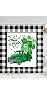 st patrick day shower curtain