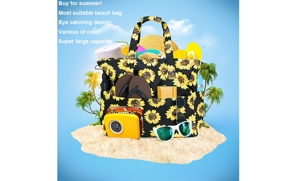 Beach Tote Pool Bags for Women Ladies