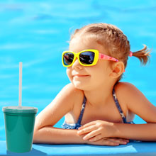 Stadium Cups with Lids and Straws keep out unwanted pool water, insects, debris, and more.