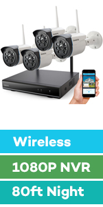wireless security camera system outdoor with hard drive night vision home