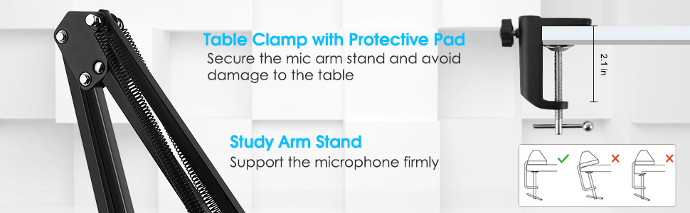 study stand arm