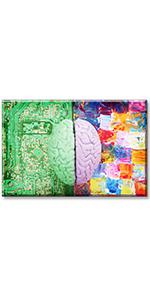 science office decor brain wall art left right canvas motivational einstein modern albert pictures