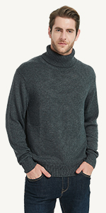 turtle neck pullover wool blended