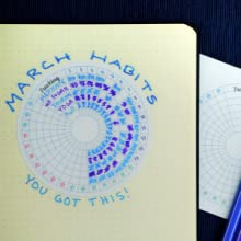 bullet journal stickers, mini calendars, habit tracker, habit trackers, bullet journal supplies