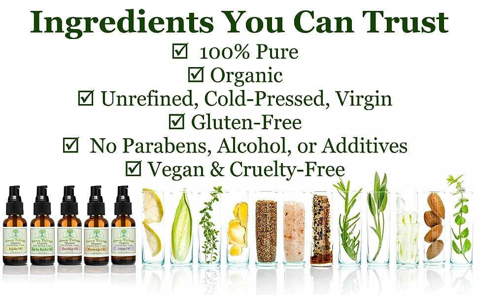 Vegan organic body and hair oil