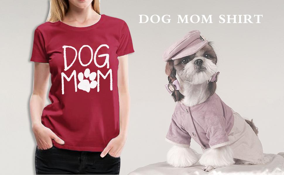 Dog Mom Graphic Print T Shirt Top