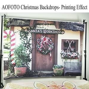 Christmas Door Backdrop