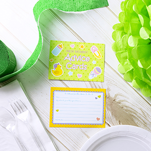 yellow shower favors, New Mom & Dad Card or Mommy & Daddy To Be, New Parent Message Advice Book,
