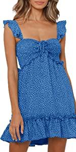 Smocked Strap Ruffle Dress