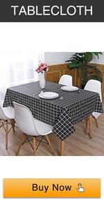 checkered tablecloth black