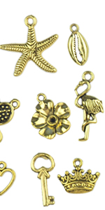 assorted gold bracelet assorted animal charms assorted pendant charms charms pendants charms