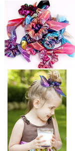 Bow Rainbow Scrunchies