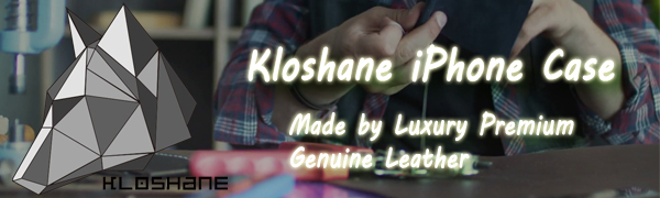 KLOSHANE iPhone leather case