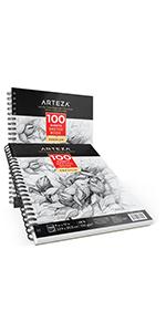 ARTZ-8091_Sketch_Book_Pad_Spiral_Sketchbook_Art_Drawing_Paper_9X12